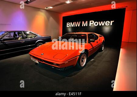 BMW M1, BMW Museum, Munich, Haute-Bavière, Bavière, Allemagne Banque D'Images