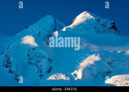Pics inférieure du Mont Cervin / Monte Cervino / Le massif du Cervin, Alpes valaisannes, Suisse / France frontière, Banque D'Images