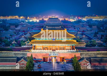 Beijing, Chine à la porte nord de la cité impériale.