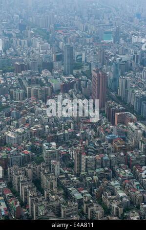 Vue sur la Tour de Taipeh 101, Taipeh, Taiwan, l'Asie Banque D'Images