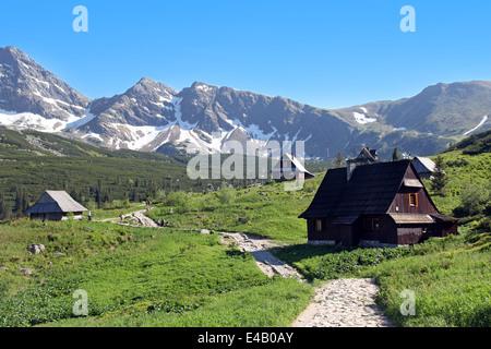 Vallée gąsienicowa, Tatras, Pologne Banque D'Images
