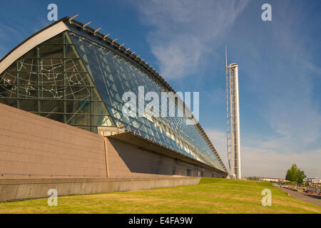 Tour de Glasgow, plate-forme d'observation et Glasgow Science Centre Park, Pacific Quay, Glasgow, Écosse, Royaume Banque D'Images