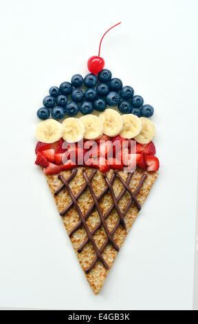 L'art de l'ice cream cone Banque D'Images