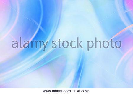 Châssis complet pastel bleu et rose avec motif abstrait reflets de lumière Banque D'Images