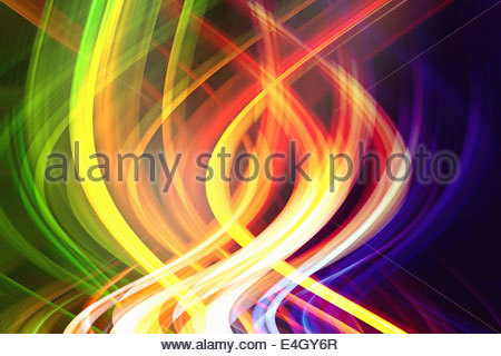 Abstract pattern de faisceaux lumineux colorés Banque D'Images
