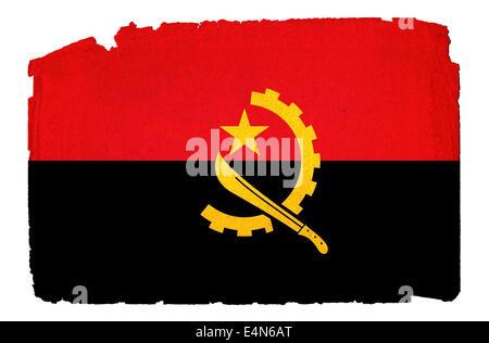 Angola - Drapeau Grunge Banque D'Images