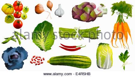Assortiment de légumes frais Banque D'Images