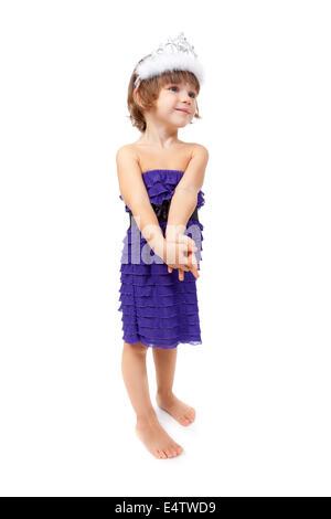 Petite fille princesse Banque D'Images