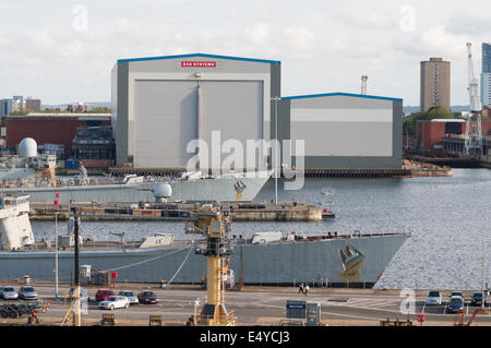 BAE Systems shipyard Portsmouth, Hampshire, England, UK Banque D'Images