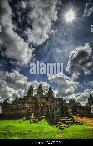 East Mebon, Cambodge, Siem Reap, Angkor Wat Banque D'Images