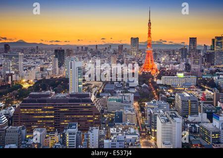 Tokyo, Japon, en Minato Ward. Banque D'Images