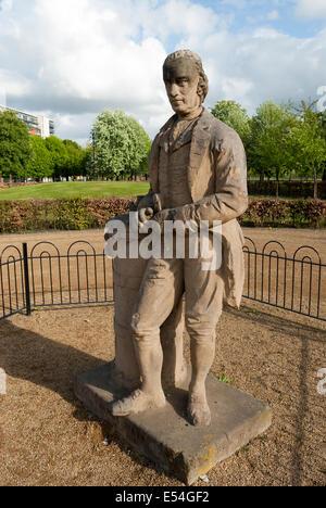 James Watt statue devant le Palais du Peuple sur Glasgow Green Banque D'Images