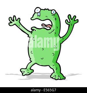 Cartoon peur frog Banque D'Images