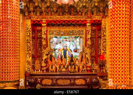 Dans le Temple d'Alatar Bishan à Taipei. Banque D'Images