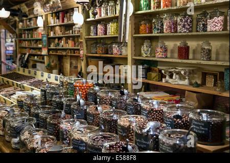 Magasin de bonbons à l'Ohio Country Store, Weston, Vermont, VT, USA