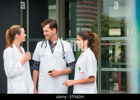 Les médecins parlent de Banque D'Images