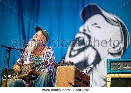 Seasick Steve live Banque D'Images