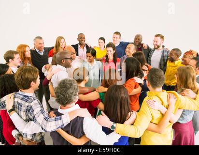 Les gens d'affaires de huddle Banque D'Images