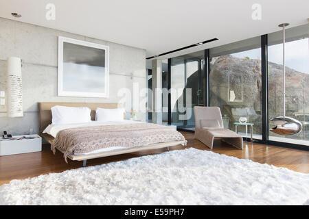 Shag tapis chambre à coucher moderne