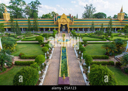 Un temple dans la campagne de la Thaïlande. Banque D'Images