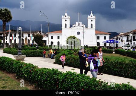 Plaza de Armas à CHACHAPOYAS . Ministère de l'Amazonas .PÉROU Banque D'Images