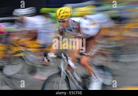 Paris, France. 27 juillet, 2014. Au cours de la concurrence Racers 137,5 km dernière étape de la Tournée 2014 de Banque D'Images