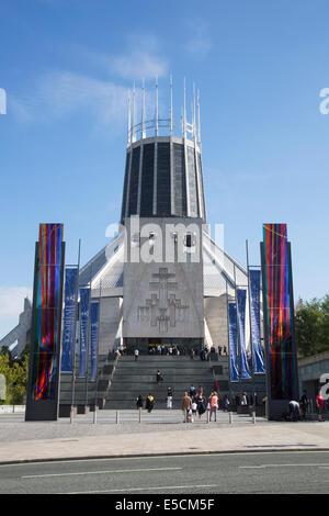 Metropolitan Cathedral of Christ the King est la cathédrale de l'Archidiocèse de Liverpool à Liverpool, en Angleterre. Banque D'Images