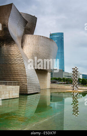 Guggenheim Museum, Bilbao, Pays Basque, Espagne Banque D'Images