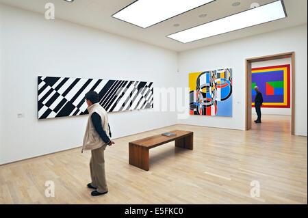 "Œuvres de Günter Mendes Bürgi, 'urchläufe', 1973-1976, Sarah Morris, ""Pékin 2006"", Sol Lewitt, 'Wall Dessin' Banque D'Images"