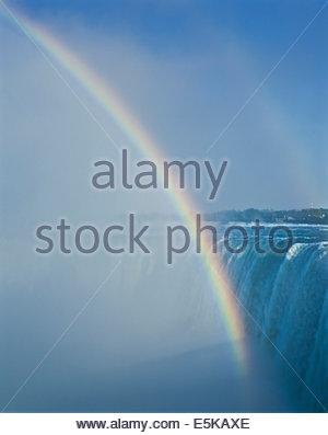 Les chutes ou les chutes du Niagara à Niagara Falls Ontario Canada rainboow Banque D'Images