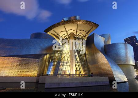 Musée d'Art Contemporain Guggenheim à Bilbao, Espagne Banque D'Images