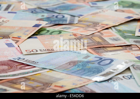 Vingt, cinquante et cent billets background Banque D'Images