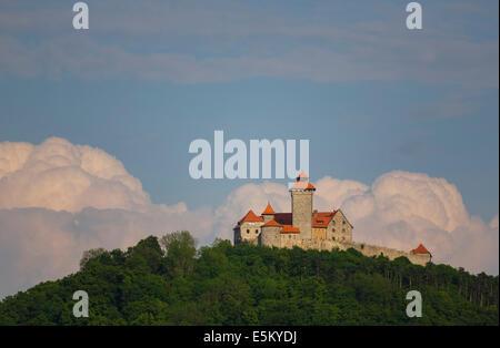 Veste Wachsenburg, Château de Wachsenburg ou Wachsenburg Amt, Thuringe, Allemagne Banque D'Images
