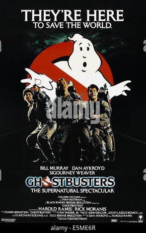 GHOSTBUSTERS, (aka Ghost Busters), à partir de la gauche: Harold Ramis, Bill Murray, Dan Aykroyd 1984. ©Columbia/avec Banque D'Images