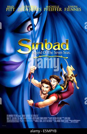SINBAD: LEGEND OF THE SEVEN SEAS, 2003, l'affiche, (c)DreamWorks Pictures/avec la permission d'Everett Collection Banque D'Images