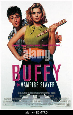 BUFFY the Vampire Slayer, Luke Perry, Kristy Swanson, 1992, TM et copyright ©20th Century Fox Film Corp. Banque D'Images