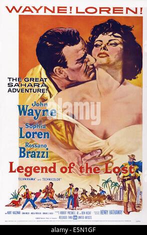 Légende de la perte, de nous poster, John Wayne, Sophia Loren, 1957 Banque D'Images