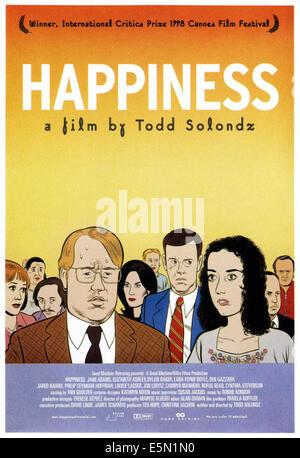 Le bonheur, l'art de l'affiche, illustration par Daniel Clowes, 1998. ©New Films International/avec la permission Banque D'Images