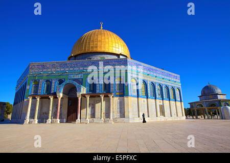 Le dôme du Rocher, sur le mont du Temple, Site du patrimoine mondial de l'UNESCO, Jérusalem, Israël, Moyen Orient Banque D'Images