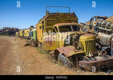 Cimetière réservoir italien à Asmara, capitale de l'Érythrée, l'Afrique Banque D'Images