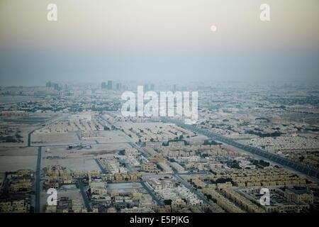 Vue aérienne de Doha du l'Aspire Tower plate-forme panoramique, Doha, Qatar, Moyen-Orient