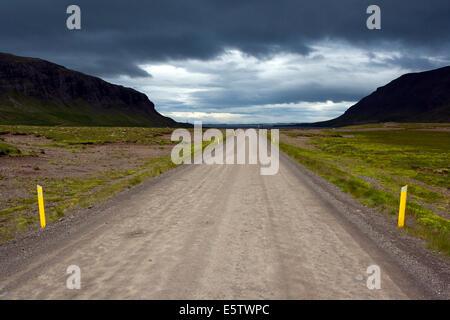 Route de Stykkisholmur - Péninsule de Snæfellsnes - Ouest de l'Islande Banque D'Images