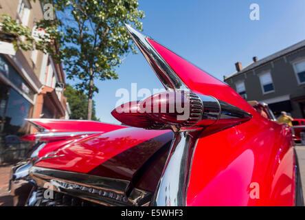 Les feux arrière et les ailerons d'une Cadillac Eldorado 1959 antique car, USA