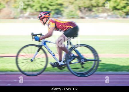 Cycliste de para-Entraînement athlétique Banque D'Images