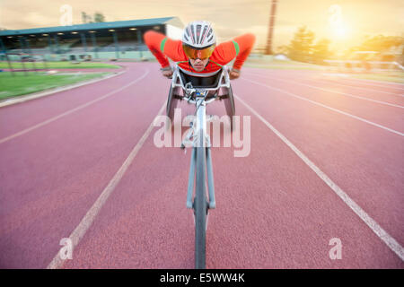 En athlète para-compétition athlétique Banque D'Images