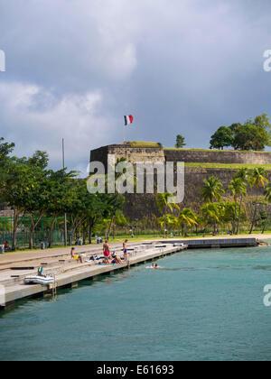 Fort Louis, Fort de France, Îles du Vent, Petites Antilles, Martinique Banque D'Images