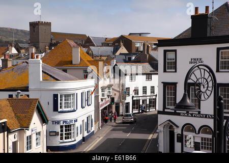 Royaume-uni l'Angleterre, dans le Dorset, Lyme Regis, Bridge Street Banque D'Images