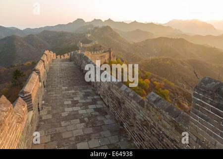 Grande Muraille, Jinshanling, Beijing, Chine Banque D'Images