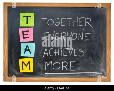 (Acronyme de l'équipe ensemble tout le monde obtient plus), le travail d'équipe motivation concept, la couleur les Banque D'Images