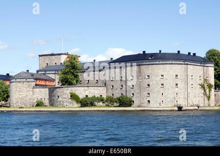 Forteresse de Vaxholm, près de Vaxholm, l'archipel de Stockholm, Stockholm, Stockholm, Suède Comté Banque D'Images